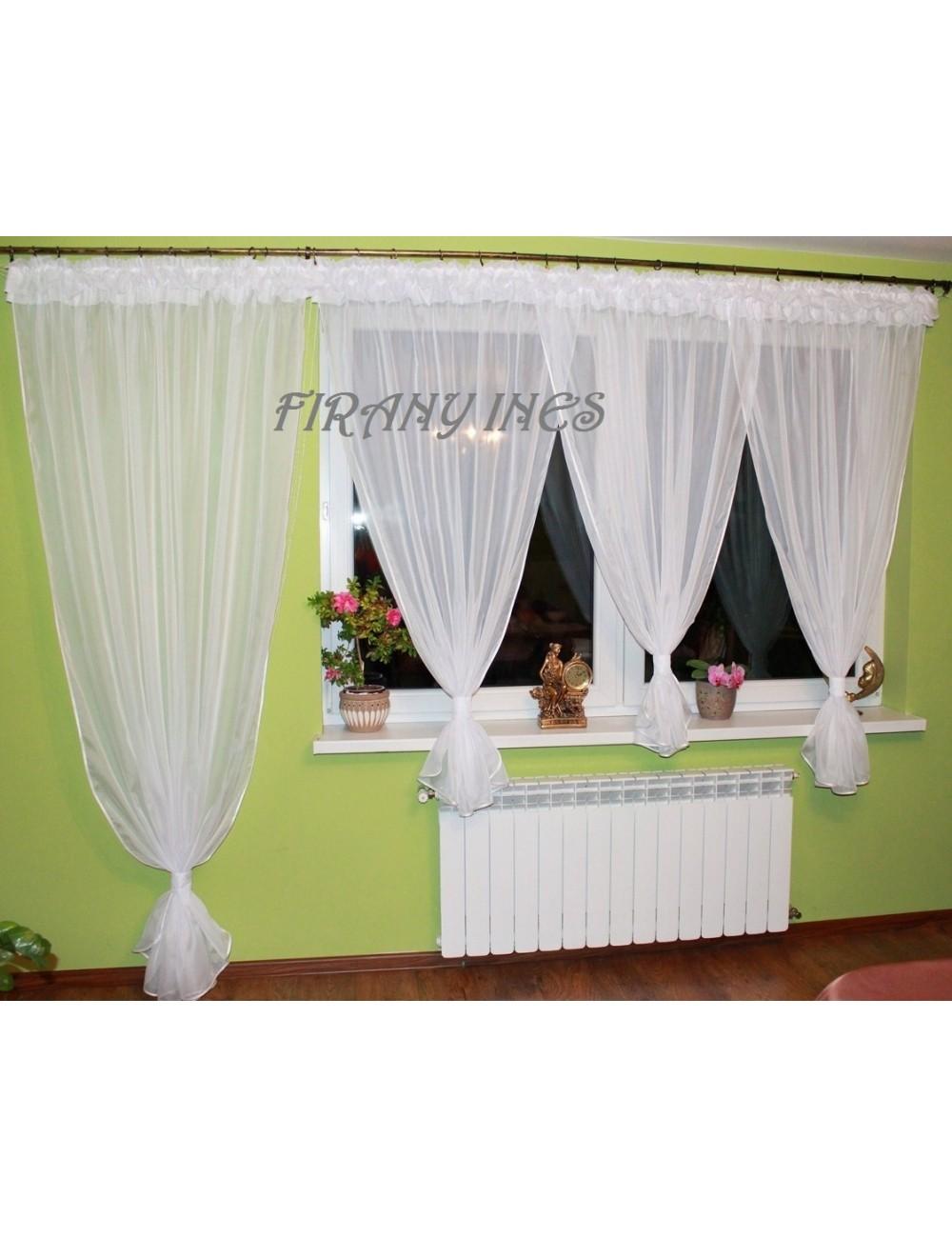 Firanka Balkon Bufka Biała 600/230