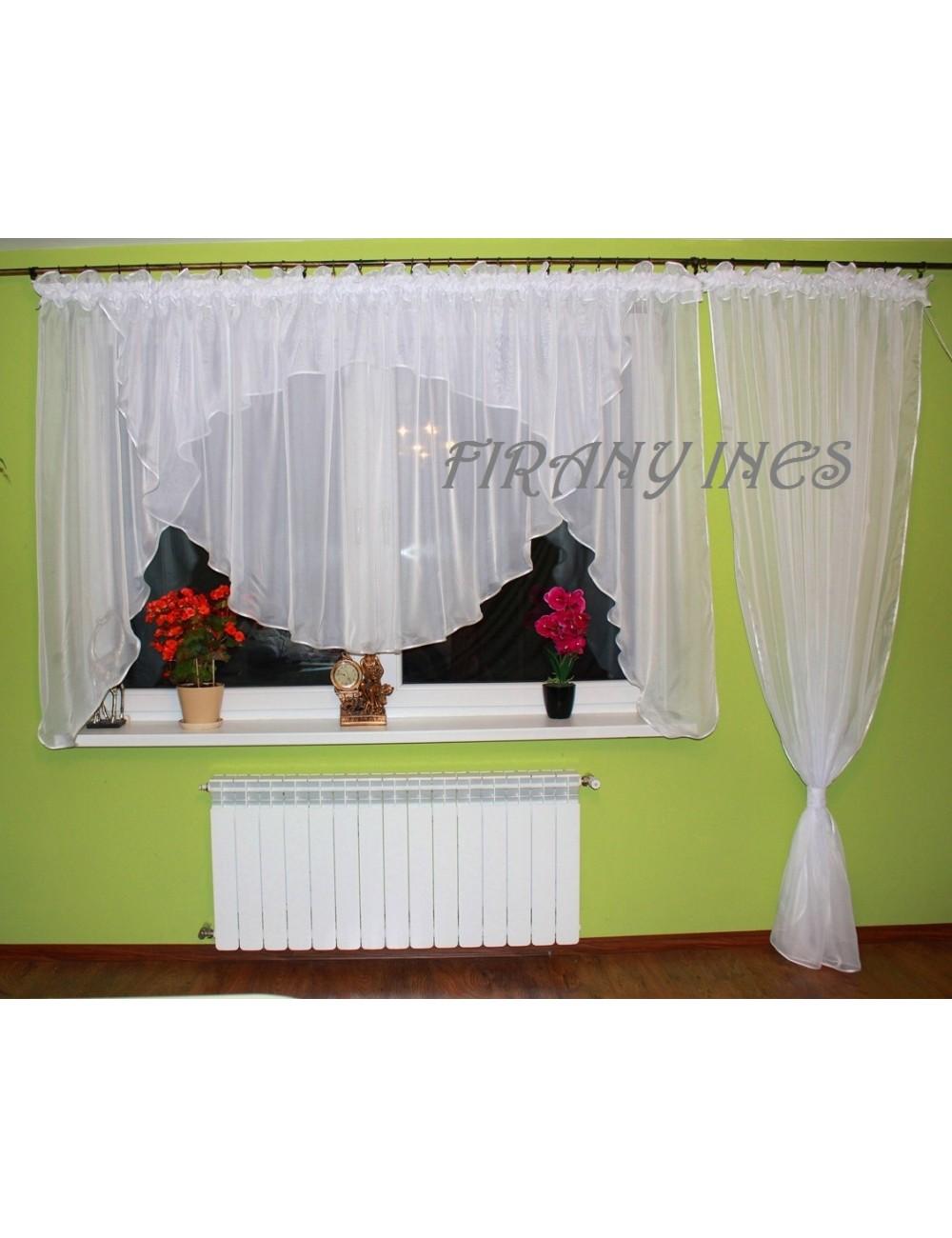 Firanka balkonowa Model A Biała