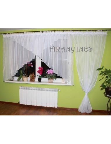 Firanka Balkonowa Kaja Biała 600/230 Firany