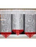 Panel Azur Czerwony s1 Kwiat 3x60cm