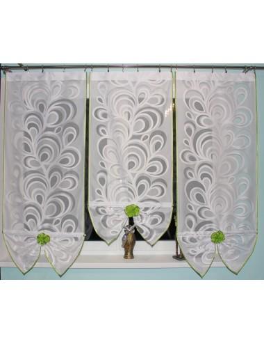 Wachlarz 3 Panele Pawie oko Zielona 3x60cm