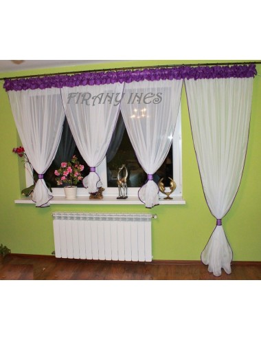 Firanka Balkon bufka 25 Kolorów 600/230