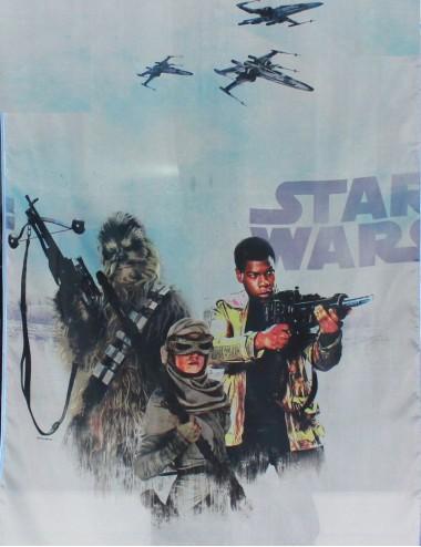 Firanka dla dzieci koperta Star wars 2 Niebieska  400/150