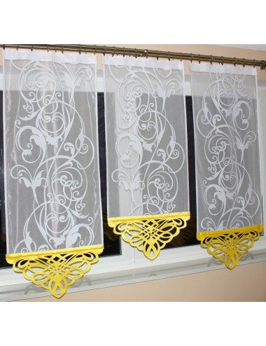 Panel Azur Zółty s2 Kwiat 3x60cm