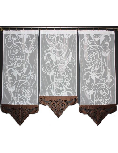 Panel Azur brąz Kwiat 3x60cm