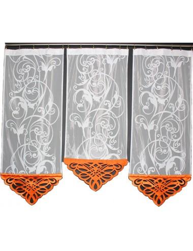 Panel Azur Pomarańcz Kwiat 3x60cm