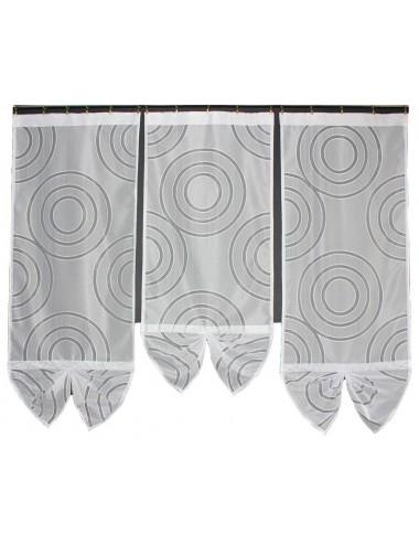 Wachlarz 3 Panele Koła W2 Białe 3x60cm